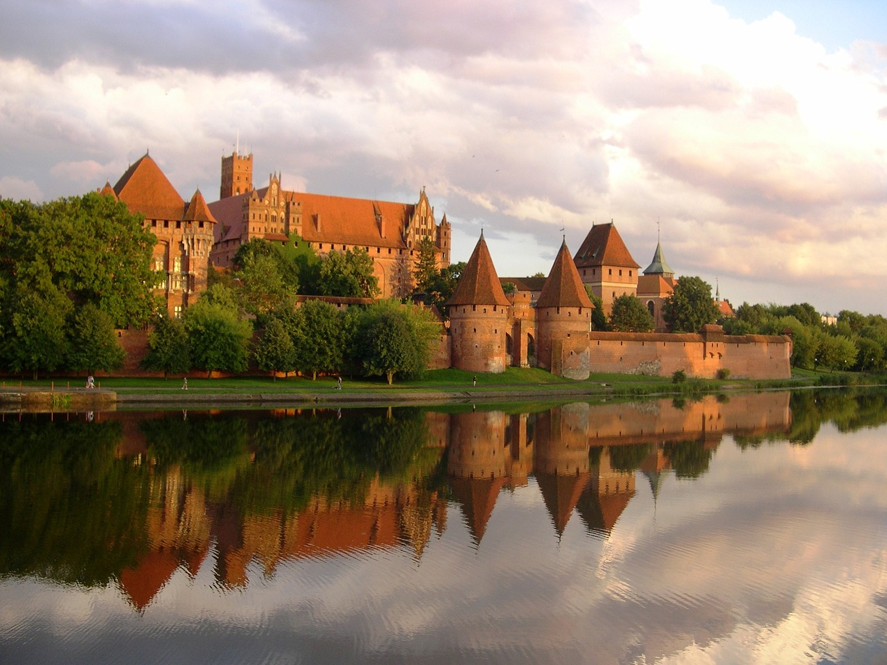 The castle of the Teutonic Order of the Crusaders Malbork Zamek Malbork