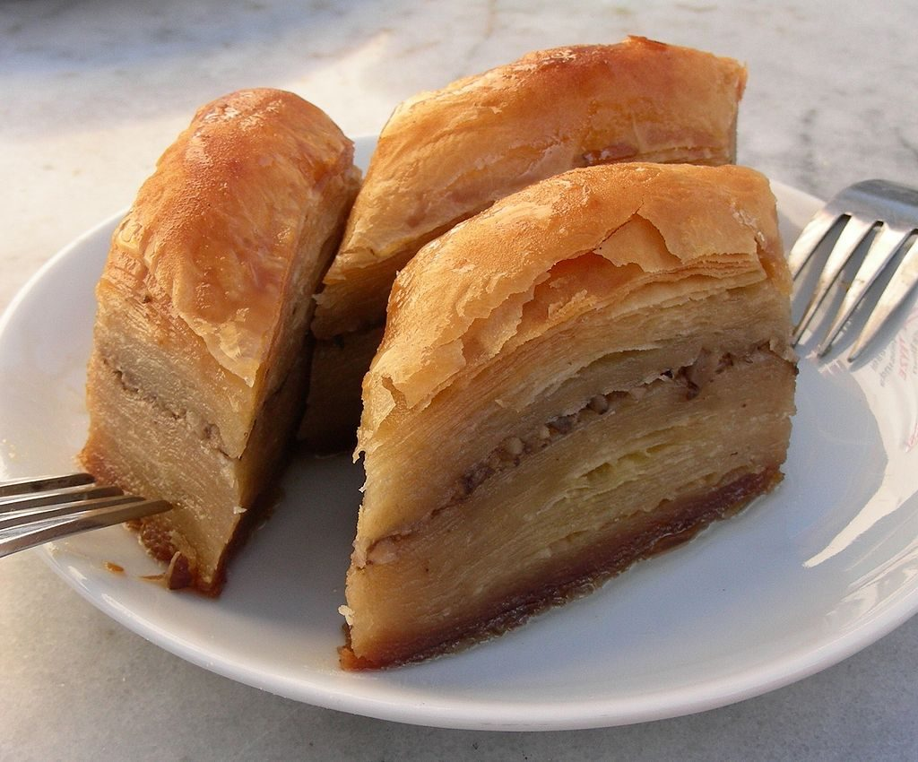 Baklava vegetarian food from Macedonia