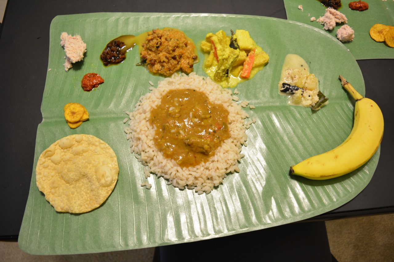 Kerala Sadhya Banana leaf Indian Food