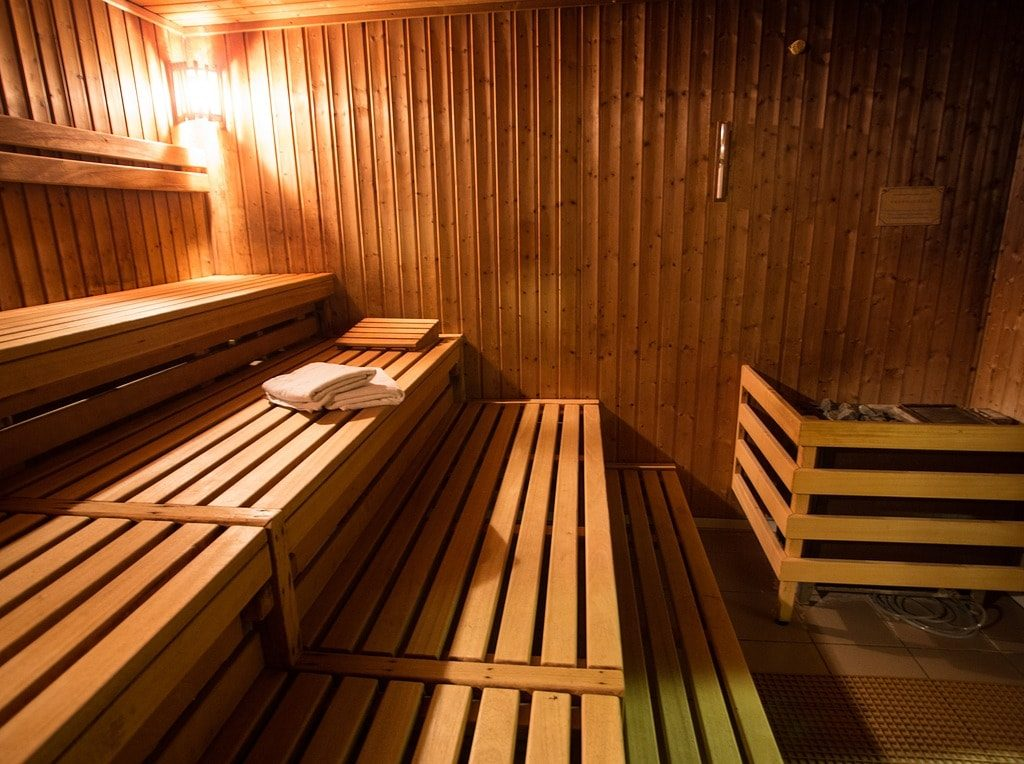 Russian banya steam room parilka