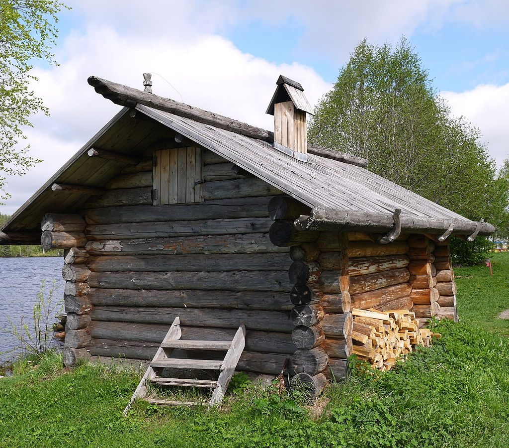 Russian black way banya