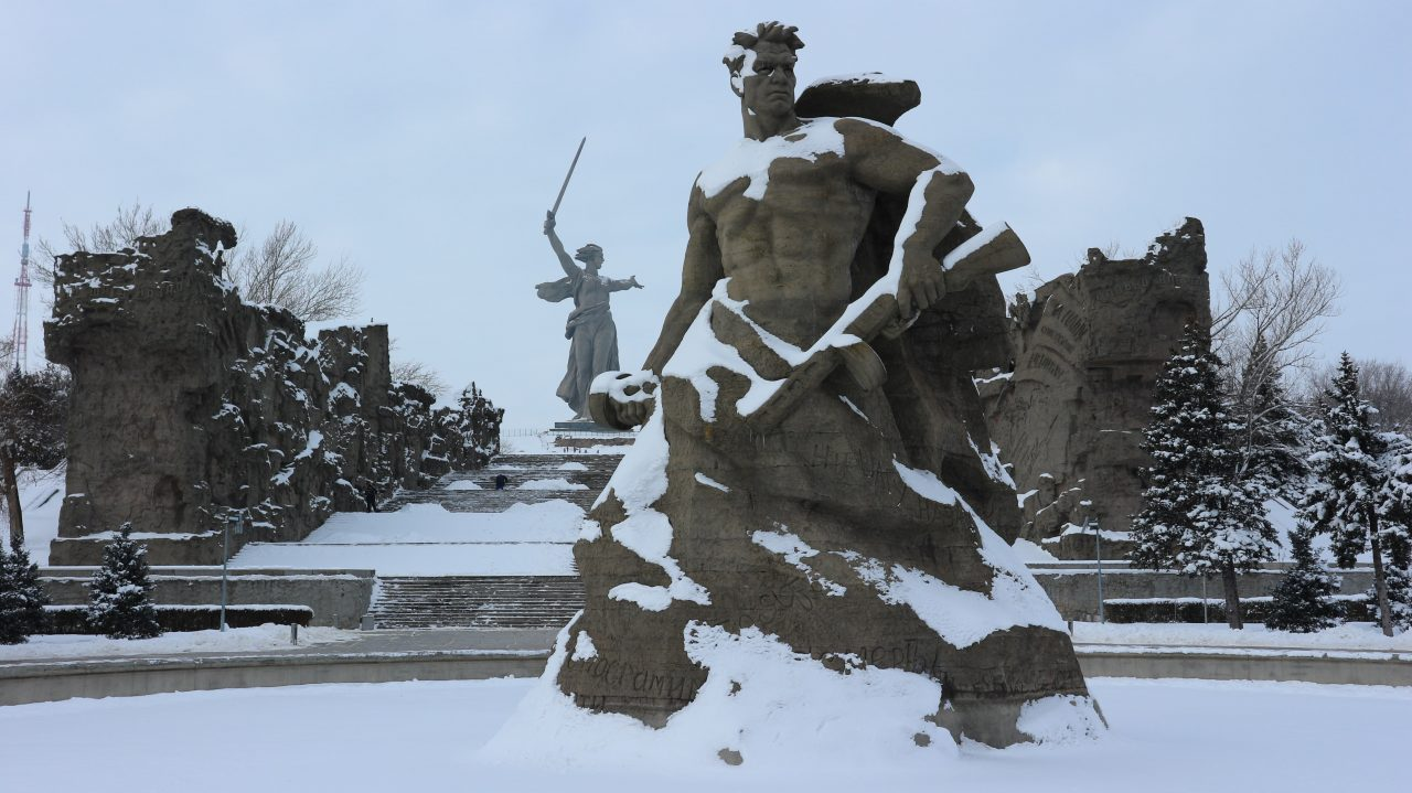 other statues at mamayev kurgan Rodina Mat' Zovyot